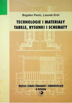 Technologie i materiały Tabele rysunki i schematy