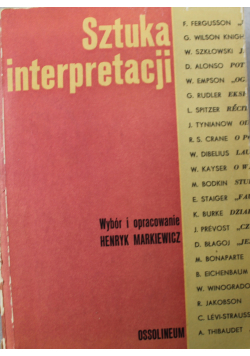 Sztuka interpretacji tom 1