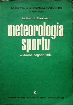 Meteorologia sportu wybrane zagadnienia