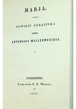 Marja Reprint z 1851 r.