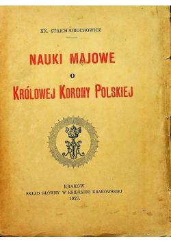 Nauki Majowe o Królowej Korony Polskiej 1927 r.