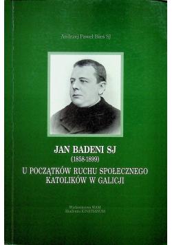 Jan Badeni SJ 1858 1899