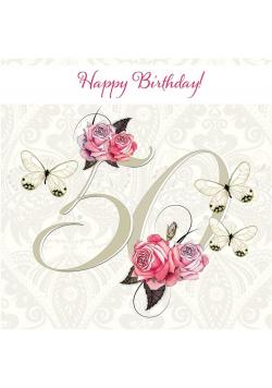 Karnet Swarovski kwadrat CL1650 Urodziny 50