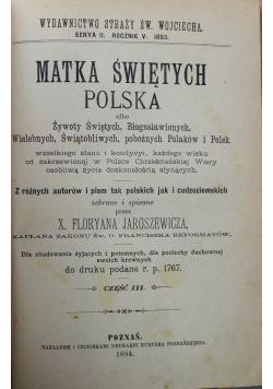 Matka świętych Polska część III 3 miesiące 1894 r.