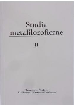 Studia metafilozoficzne II