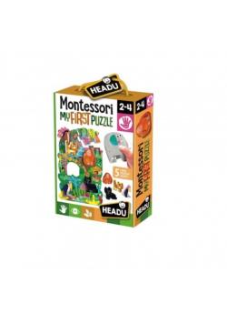 Montessori Pierwsze puzzle Dżungla HEADU