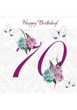 Karnet Swarovski kwadrat CL1670 Urodziny 70