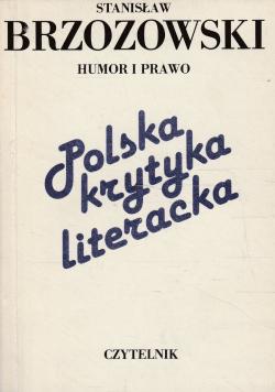 Polska krytyka literacka Humor i prawo