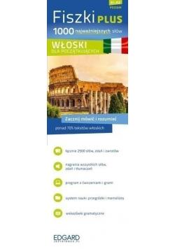 Fiszki PLUS 1000 najważniejszych słów Włoski dla początkujących Poziom A1 A2 NOWA