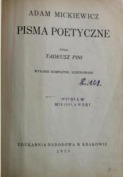 Mickiewicz Pisma Poetyczne 1925 r