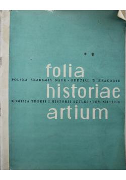 Folia historiae artium Tom XII