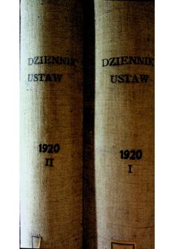 Dziennik ustaw 2 tomów 1920r