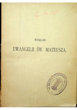 Wykład Ewangelii Św Mateusza 1903 r.