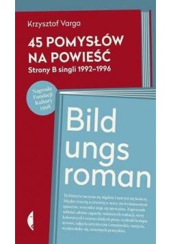 45 pomysłów na powieść Bildungsroman