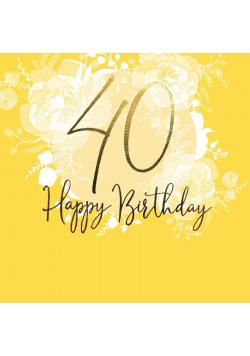 Karnet kwadrat CL0940_SG Urodziny 40
