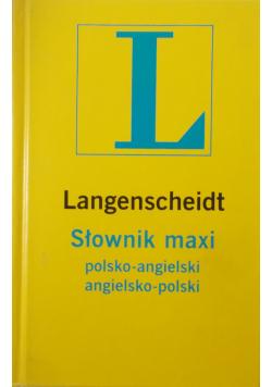 Langenscheidt Słownik maxi polsko angielski angielsko polski