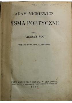 Mickiewicz Pisma poetyczne 1925r