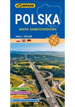 Mapa samochodowa. Polska 1:650 000 w.2021