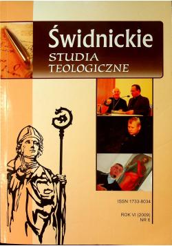 Świdnickie Studia Teologiczne Rok VI Nr 6