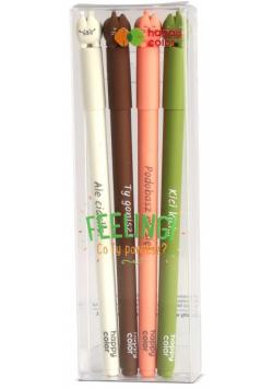 Długopis żelowy Feelingi Fat Cats 4szt HAPPY COLOR