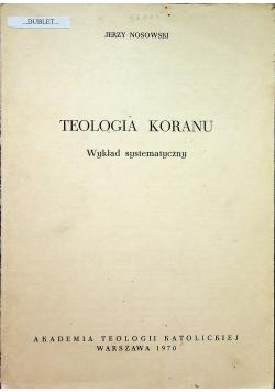 Teologia Koranu Wykład systematyczny