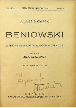 Beniowski 1923 r.
