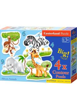 Puzzle x 4 Kontur African Animals NOWA