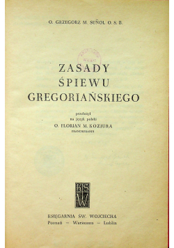 Zasady śpiewy gregoriańskiego