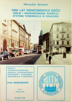 1000 lat Krakowskich dróg nr 3 zeszyt 49