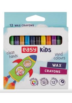 Kredki świecowe 12 kolorów EASY