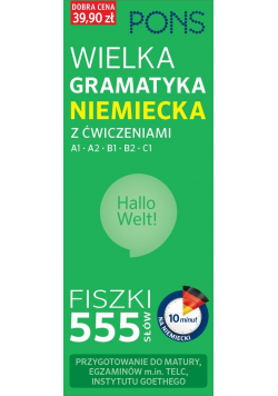 Fiszki 555 słów  Wielka gramatyk niemiecka z ćwiczeniami
