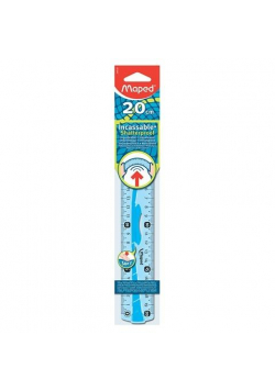 Linijka Flex elastyczna 20 cm niebieska gumowana