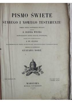 Pismo Święte Starego i Nowego Testamentu Tom I 1873 r.