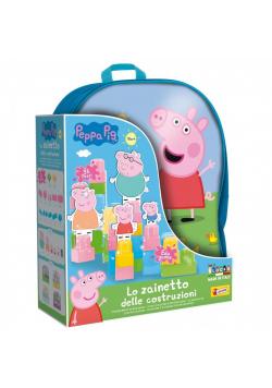 Świnka Peppa - plecak z klockami konstrukcyjnymi