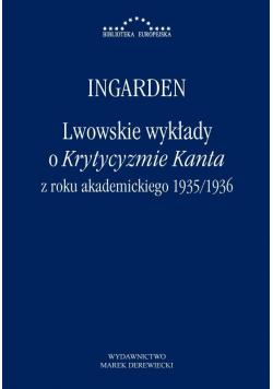 Lwowskie wykłady o Krytycyzmie Kanta..