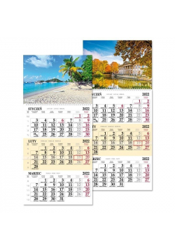 Kalendarz 2022 trójdziel. jednoplansz. SB7 MIX