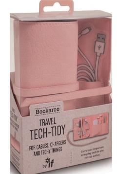 Bookaroo Travel Tech-Tidy Organizer podróżny róż NOWA