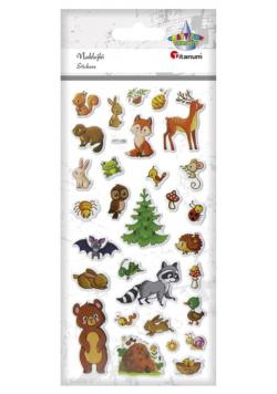 Naklejki wypukłe miękkie zwierzęta leśne 30szt
