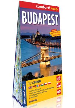 Budapeszt (Budapest) laminowany plan miasta 1:13 000