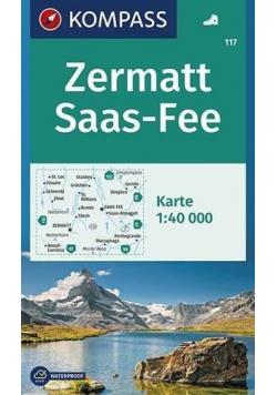 Zermatt Saas-Fee 1:40 000 Kompass