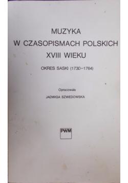 Muzyka w czasopismach polskich XVIII wieku