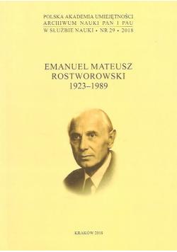 Emanuel Mateusz Rostworowski 1923 - 1989