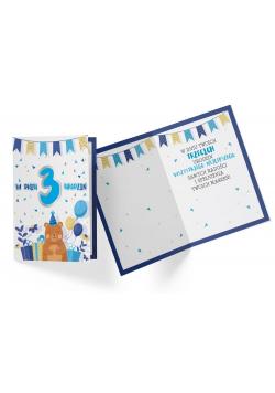 Karnet PR-322 Urodziny 3 chłopiec