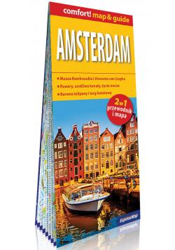 Amsterdam laminowany map&guide 2w1: przewodnik i mapa
