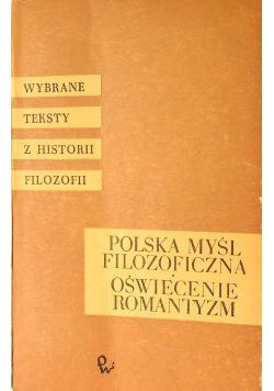 Polska Myśl Filozoficzna Oświecenie Romantyzm