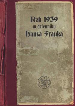 Rok 1939 w dzienniku Hansa Franka