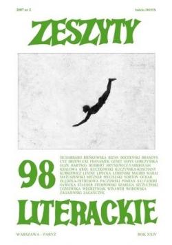 Zeszyty literackie 98 2/2007
