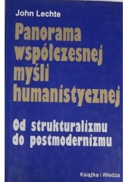 Panorama współczesnej myśli humanistycznej