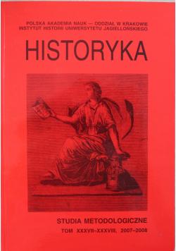 Historyka Studia metodologiczne Tomn XXXVII - XXXVIII