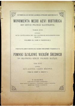 Pomniki dziejowe wieków średnich 1918 r.